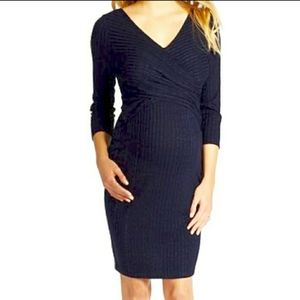 Jessica Simpson Maternity Dress Casual Ribbed Knit